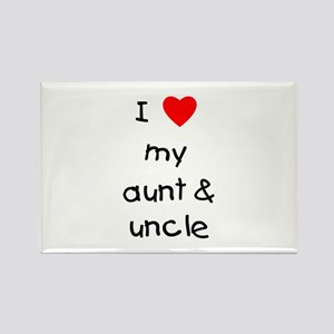 I love my aunt & uncle Rectangle Magnet