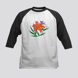 Tiger Lily and Dragonfly Kids Baseball Jersey