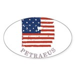 Old Glory Petraeus Sticker (Oval 50 pk)