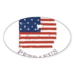 Old Glory Petraeus Sticker (Oval 10 pk)