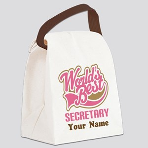 Personalized Secretary Canvas Lunch Bag