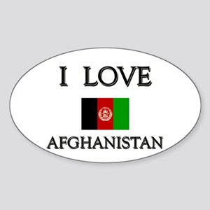 I Love Afghanistan Oval Sticker