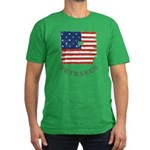 Old Glory Petraeus Men's Fitted T-Shirt (dark)