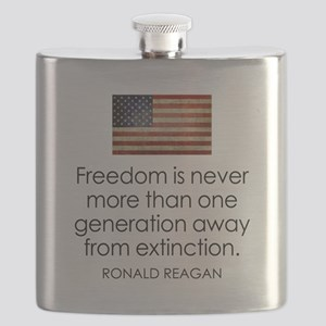 Reagan Quote on Freedom Flask