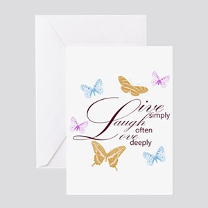Live, Laugh, Love Simply Butterflies Greeting Card