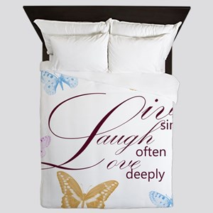 Live, Laugh, Love Simply Butterflies Queen Duvet