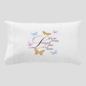 Live, Laugh, Love Simply Butterflies Pillow Case