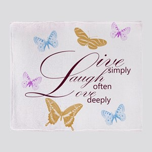 Live, Laugh, Love Simply Butterflies Stadium Blan