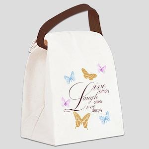 Live, Laugh, Love Simply Butterflies Canvas Lunch