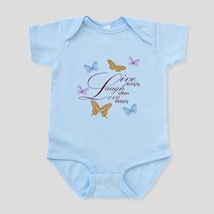 Live, Laugh, Love Simply Butterflies Infant Bodysu
