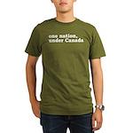 One Nation Under Canada Organic Men's T-Shirt (dar