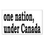 One Nation Under Canada Sticker (Rectangle)