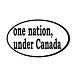 One Nation Under Canada Oval Car Magnet
