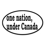 One Nation Under Canada Sticker (Oval)