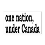 One Nation Under Canada Rectangle Car Magnet