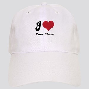 Personalized Red Heart Cap