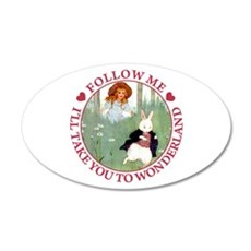 Follow Me To Wonderland Wall Decal