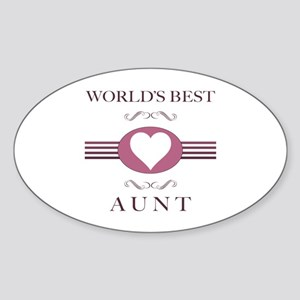 Aunt w/ Heart Sticker (Oval)