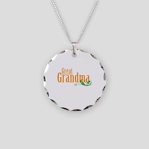 Great Grandma Gardener Necklace Circle Charm
