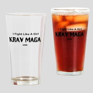 Fight Like A Girl Krav Maga Style Drinking Glass