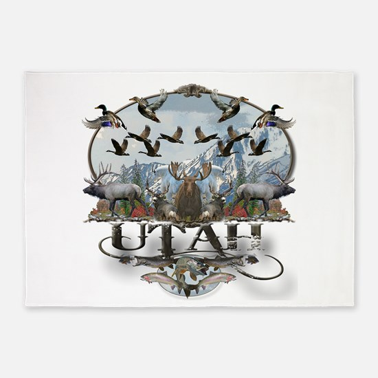 Utah outdoors 5'x7'Area Rug