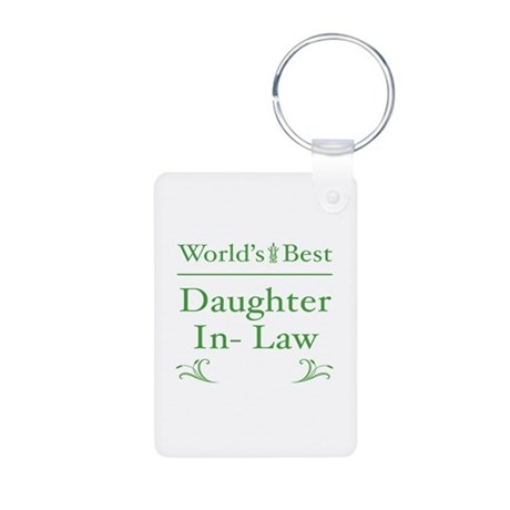 Floral Daughter-In-Law 1 Aluminum Photo Keychain