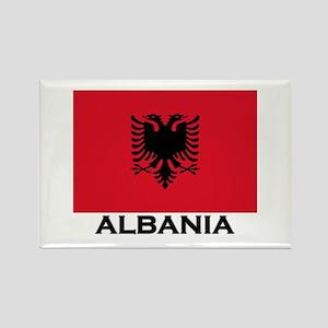 Albania Flag Gear Rectangle Magnet