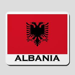 Albania Flag Gear Mousepad