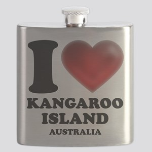 I Heart Kangaroo Island, Australia Flask