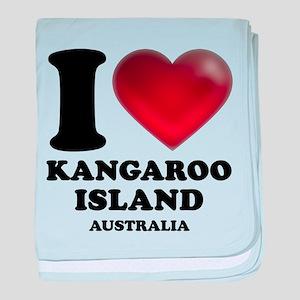 I Heart Kangaroo Island, Australia baby blanket