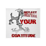 Goat Attitude Throw Blanket