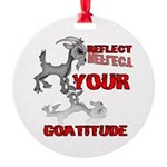 Goat Attitude Round Ornament