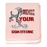 Goat Attitude baby blanket