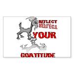 Goat Attitude Sticker (Rectangle)