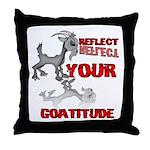Goat Attitude Throw Pillow