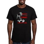 Goat Attitude Men's Fitted T-Shirt (dark)