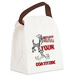 Goat Attitude Canvas Lunch Bag