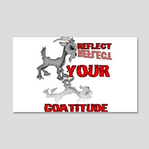 Goat Attitude 20x12 Wall Decal