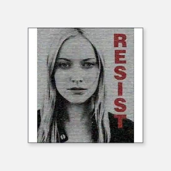 """Etta Resist Square Sticker 3"""" x 3"""""""
