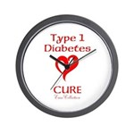 Type 1 Diabetes Cure - Enzo Collection Wall Clock