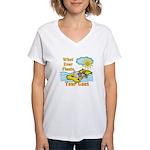 Float Your Goat Women's V-Neck T-Shirt