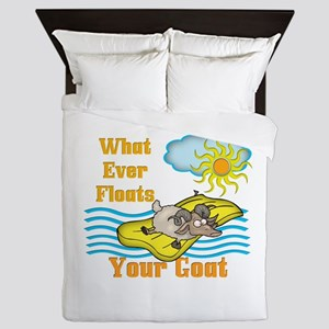 Float Your Goat Queen Duvet