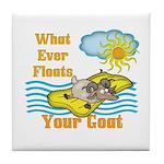 Float Your Goat Tile Coaster