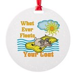Float Your Goat Round Ornament