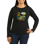 Float Your Goat Women's Long Sleeve Dark T-Shirt