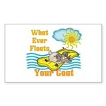 Float Your Goat Sticker (Rectangle)