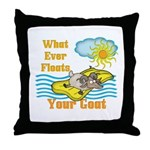 Float Your Goat Throw Pillow