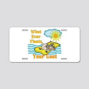 Float Your Goat Aluminum License Plate