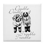 Baby Pygmy Goats Double Trouble Tile Coaster