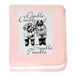 Baby Pygmy Goats Double Trouble baby blanket
